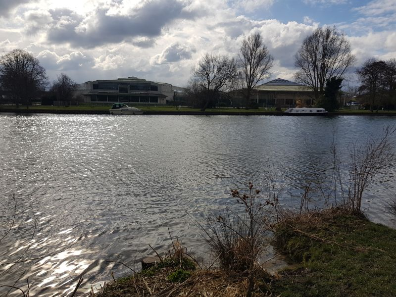 View of Windsor Leisure Centre from River Thames Path