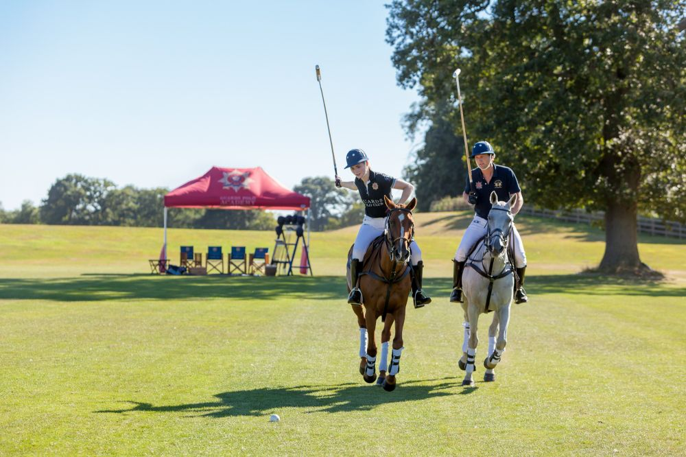 Learning to play polo at Guards Club Academy, Coworth Park