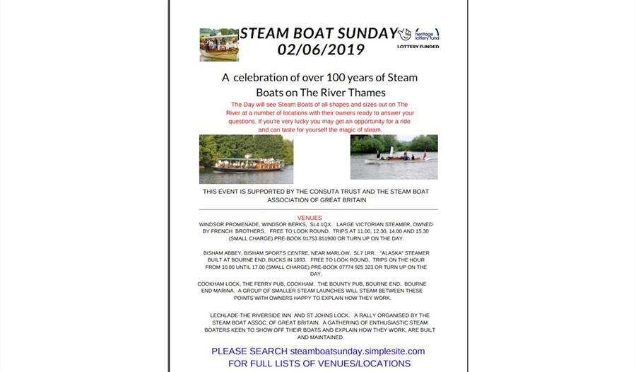 Steam Boat Sunday 02/06/2019 - Visit Windsor