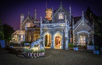 Oakley Court, external at night