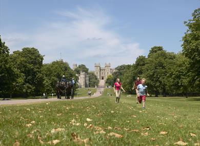 View Of Windsor Castle From Great Park