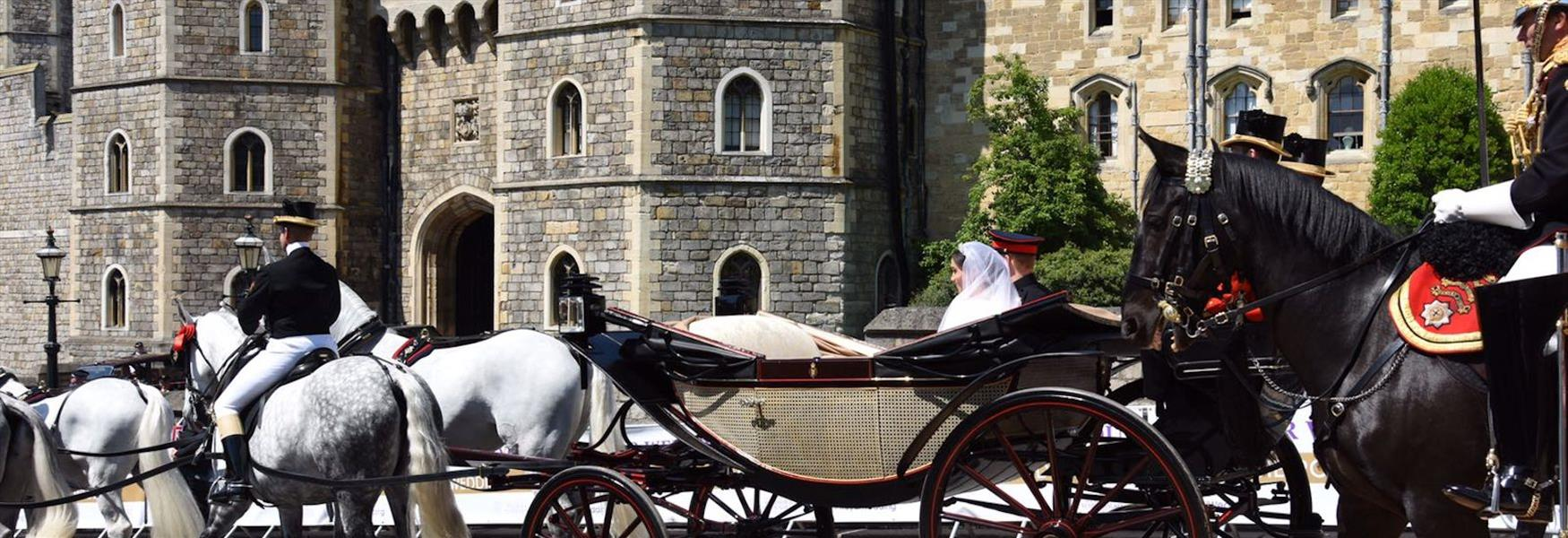 The Duke and Duchess of Sussex's carriage procession