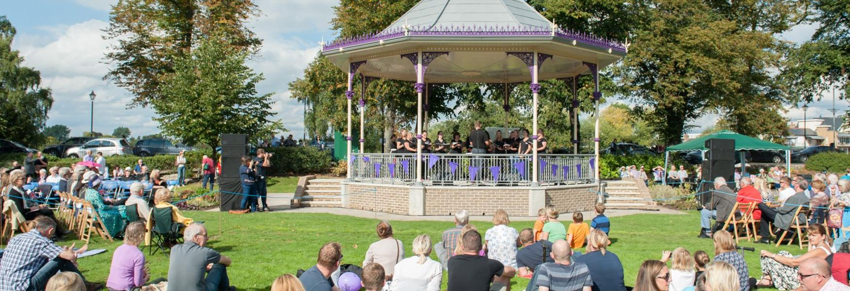 Enjoy free music in Windsor's Alexandra Gardens Bandstand