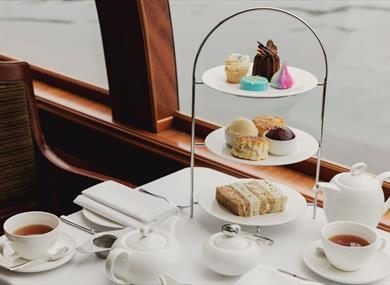 Afternoon tea on board Bateaux Windsor
