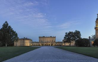 Sweeping drive up to Cliveden House