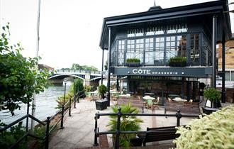 Cote Brasserie, Windsor and Eton, overlooking the River Thames