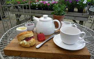 Cream tea at Dorney Court Kitchen Garden