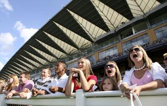 Image of children enjoying the racing at Ascot