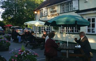 Rose and Crown's front garden