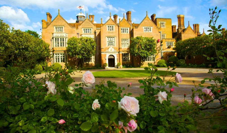 Great Fosters: front of hotel with roses