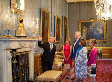 Visitors enjoying an Exclusive Evening Tour of Windsor Castle