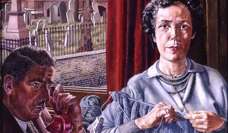 Stanley Spencer Gallery, Cookham: Mr and Mrs Baggett (1956) part of the Winter Exhibition 'Friends and Family'