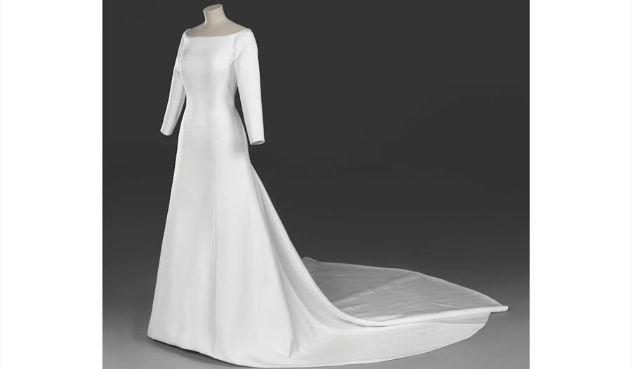 The wedding dress of The Duchess of Sussex © Royal Collection Trust, part of a special exhibition at Windsor Castle